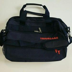 TRAFALGAR Bag Messenger Laptop Dark Blue NWOT